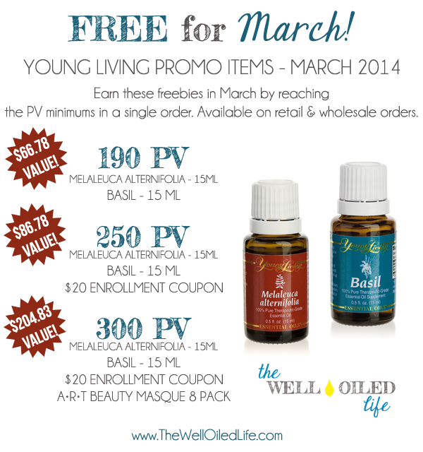 March 2014 young living promo
