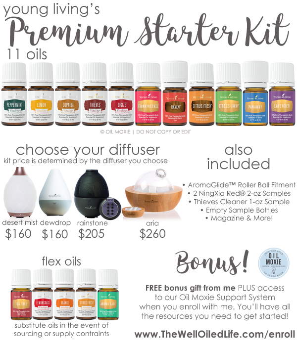 Premium Starter Kit From Young Living The Well Oiled Life Using