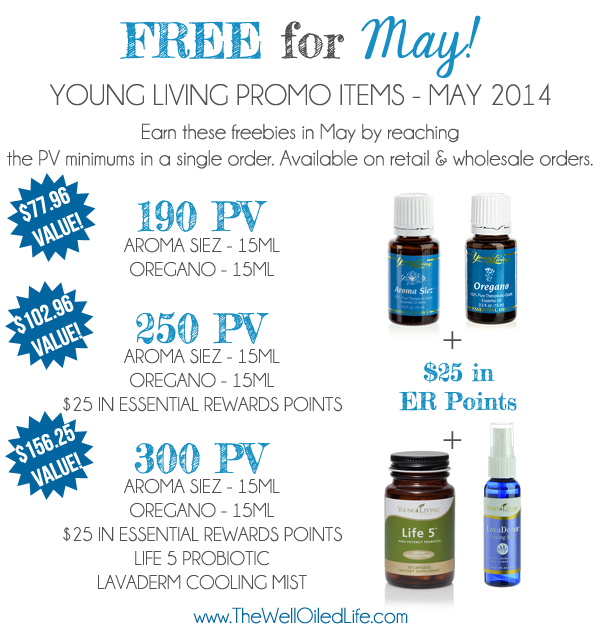 Young Living May 2014 Promotion