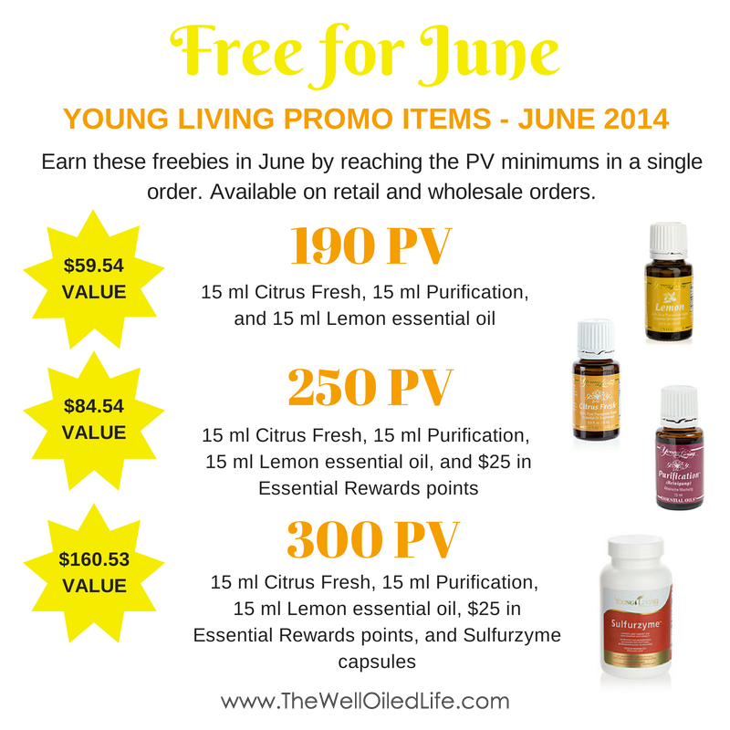 June Young Living Monthly Promotion