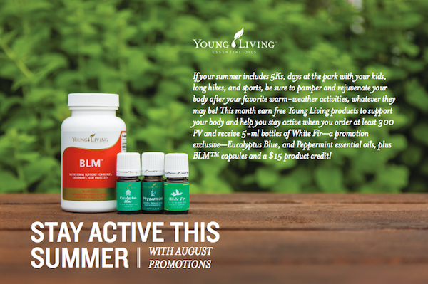 August Young Living Promotion