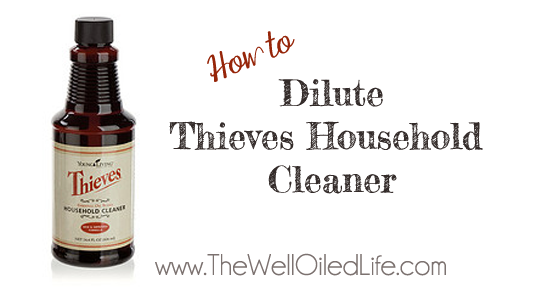 How to Dilute Thieves Cleaner
