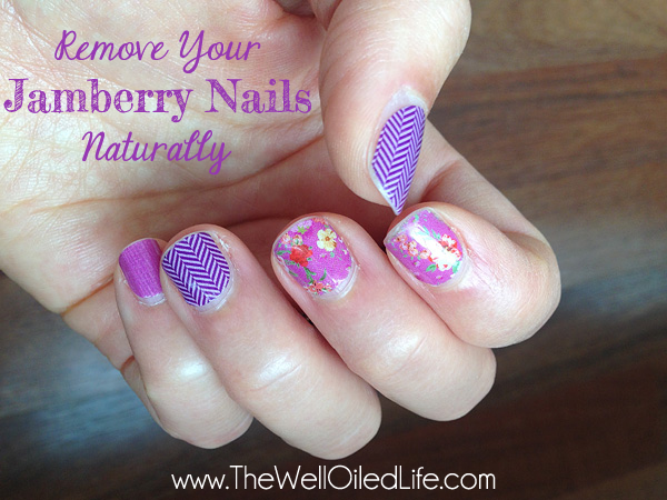Remove your jamberry nails naturally