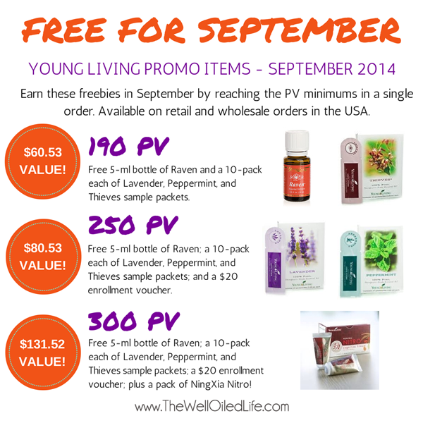 Young Living September 2014 Promotion