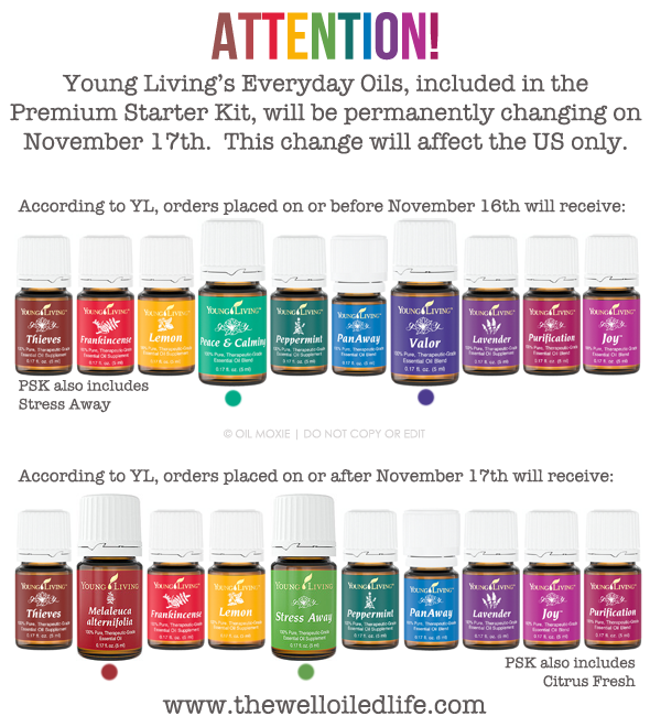 Changes to Young Living Everyday Oils