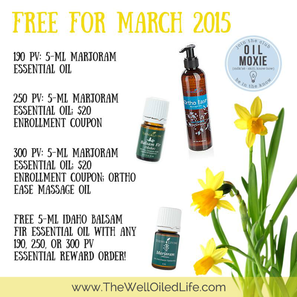March Young Living Monthly Promotion