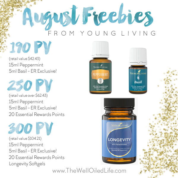 Young Living August 2015 Promotion