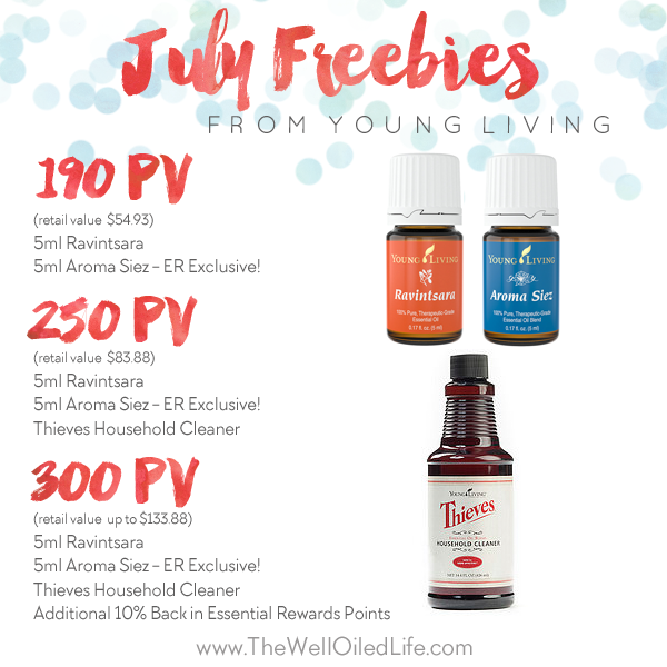 Young Living July Freebies