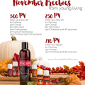 Young Living November Promotion
