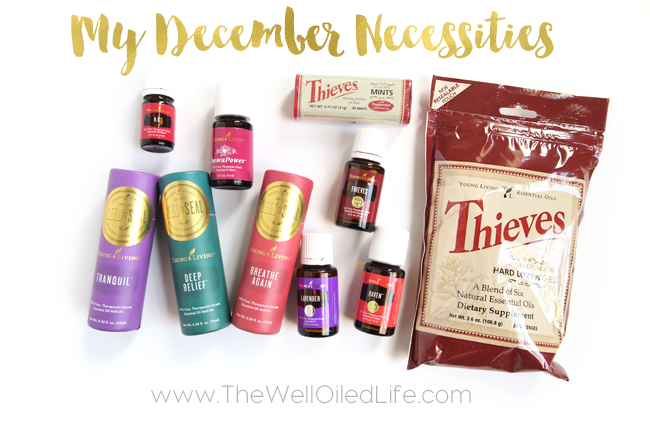 December Necessities Young Living Essential Oils