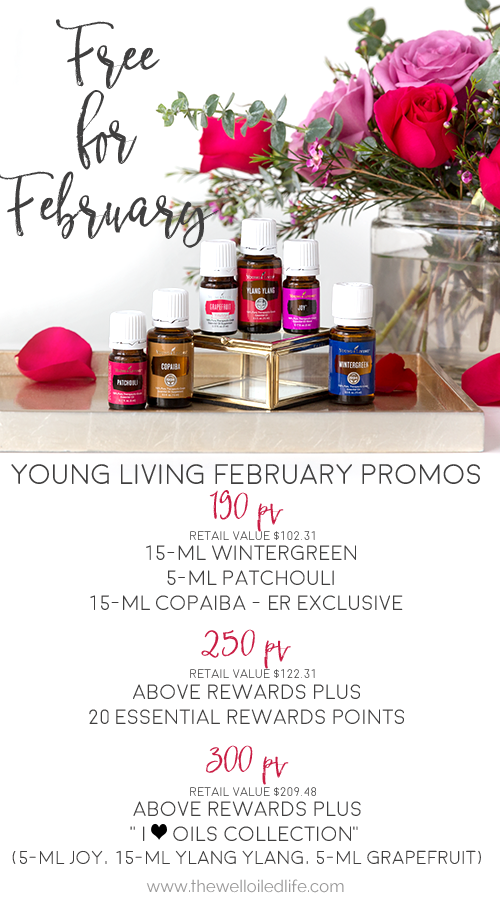 Young Living February 2016 Monthly Promotions
