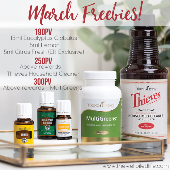 March Young Living Freebies