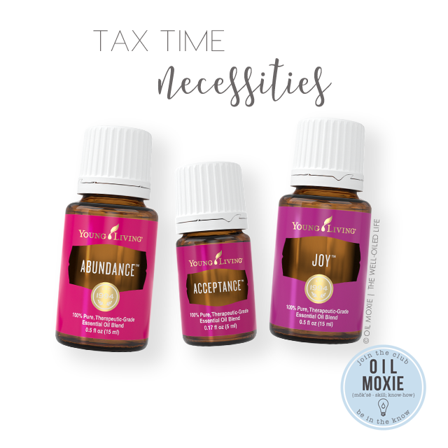 Tax Time Necessities Essential Oils
