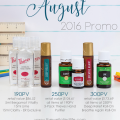 Young Living August 2016 Promo