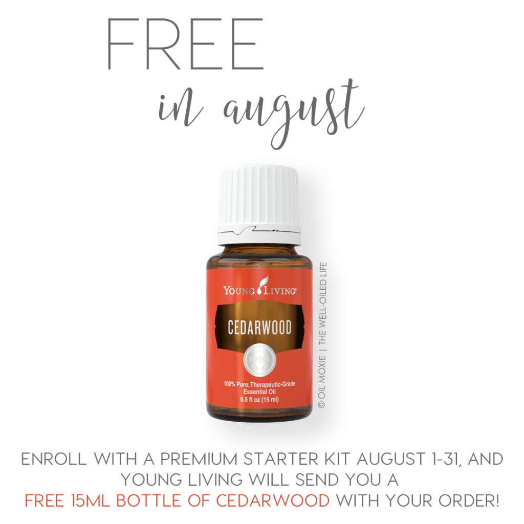 Free 15ml Cedarwood for all new Young Living members purchasing the Premium Starter Kit!