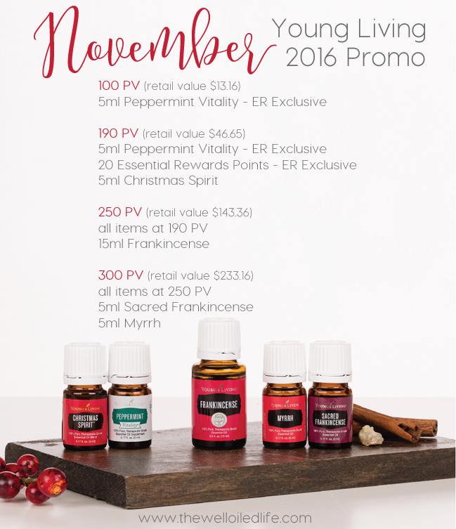 Young Living 2016 November Monthly Promotion