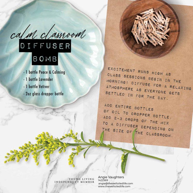 Calm Classroom Diffuser Bomb essential oil recipe