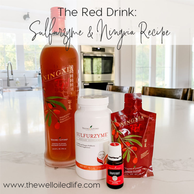 The Red Drink: Sulfurzyme and Ningxia Recipe