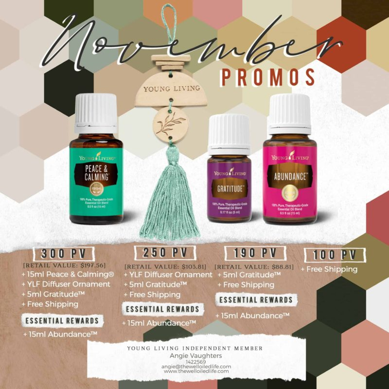 Young Living November 2020 Monthly Promotion
