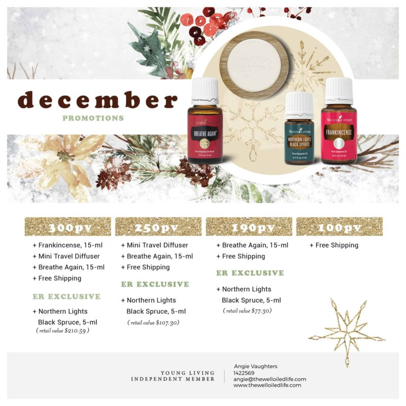 Young Living December 2020 Monthly Promotion
