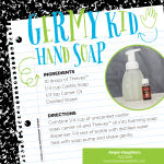 Make your own foaming hand soap with Thieves essential oil blend