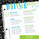 Diffuser recipes for kids and the new school year