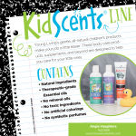 KidScents Line for all-natural products like shampoo, conditioner, and toothpaste
