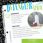 Detangler Spray DIY recipe using essential oils